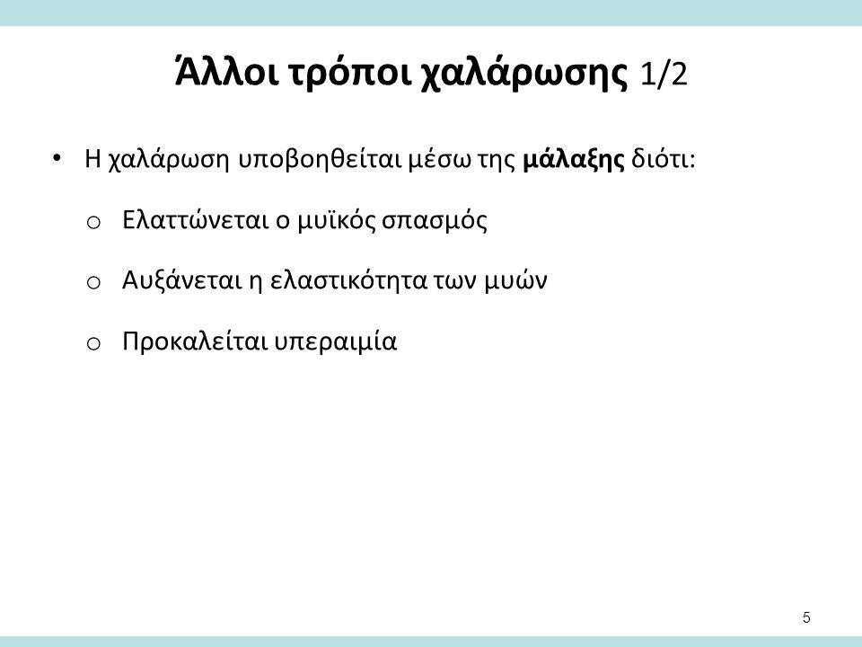 Άλλοι τρόποι χαλάρωσης 2/2