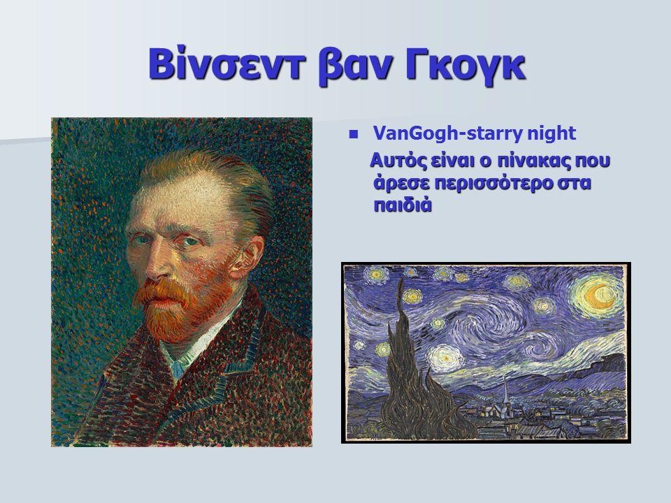 Βίνσεντ βαν Γκογκ VanGogh-starry night