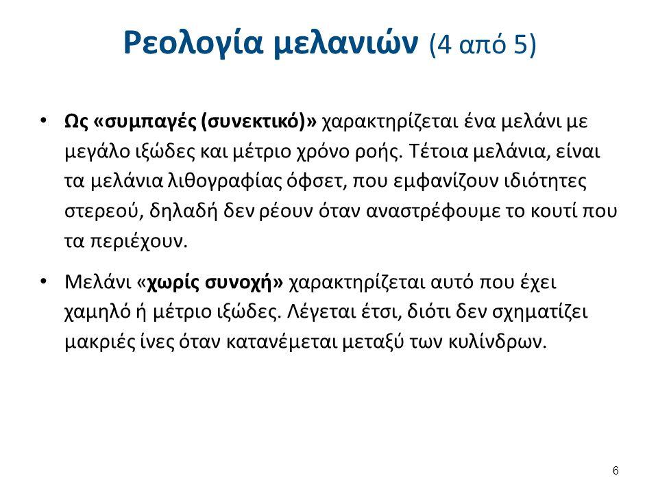 Ρεολογία μελανιών (5 από 5)