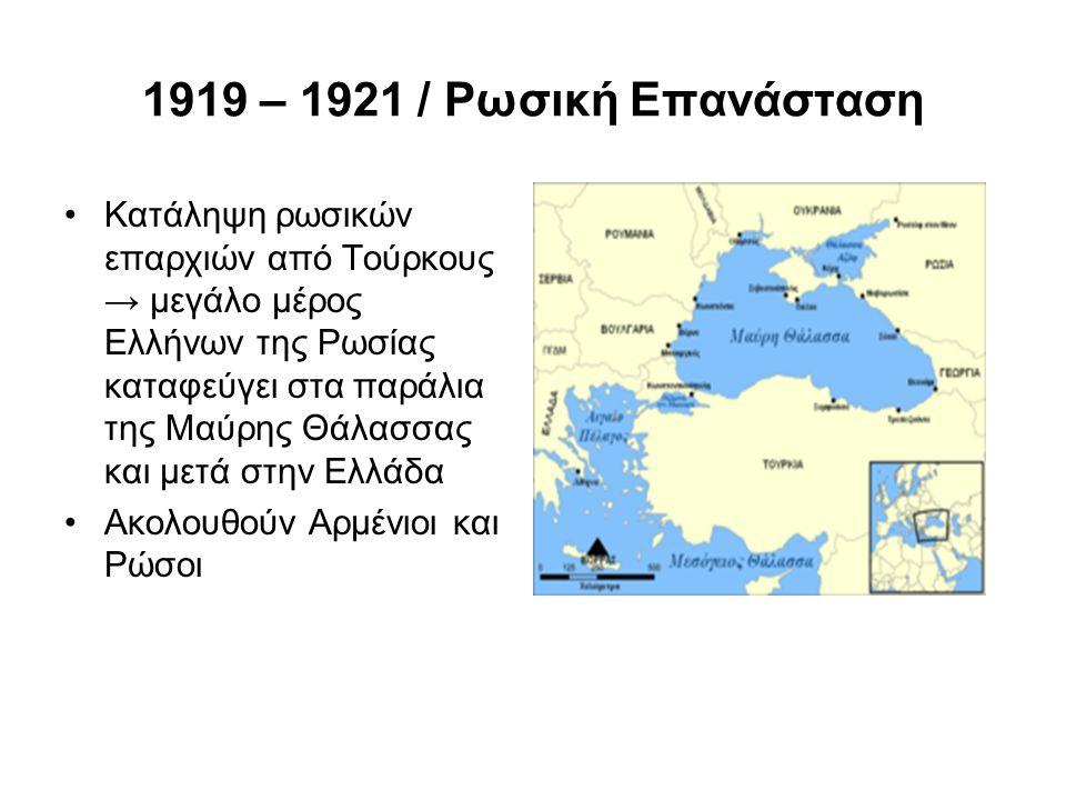 1919 – 1921 / Ρωσική Επανάσταση