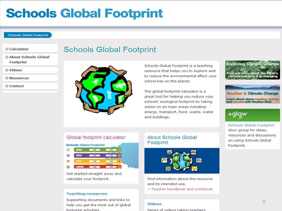 Το εργαλείο που επιλέξαμε είναι to Global footprint calculator από την Σκωτία