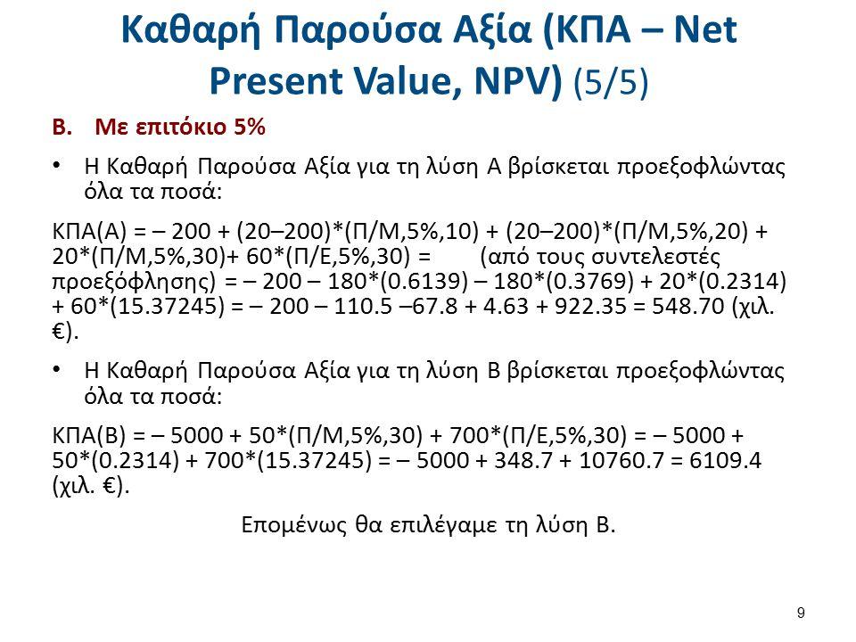 Εσωτερικός Συντελεστής Απόδοσης (ΕΣΑ – Internal Rate of Return, IRR) (1/4)