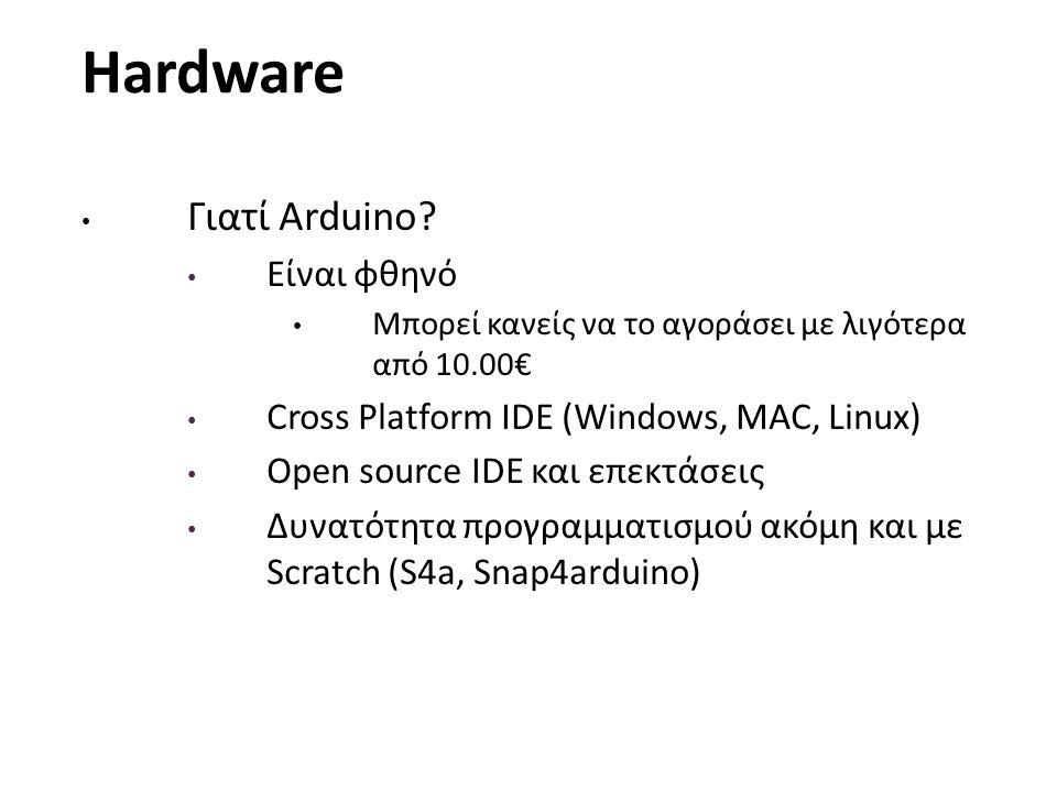Hardware Γιατί Arduino Είναι φθηνό