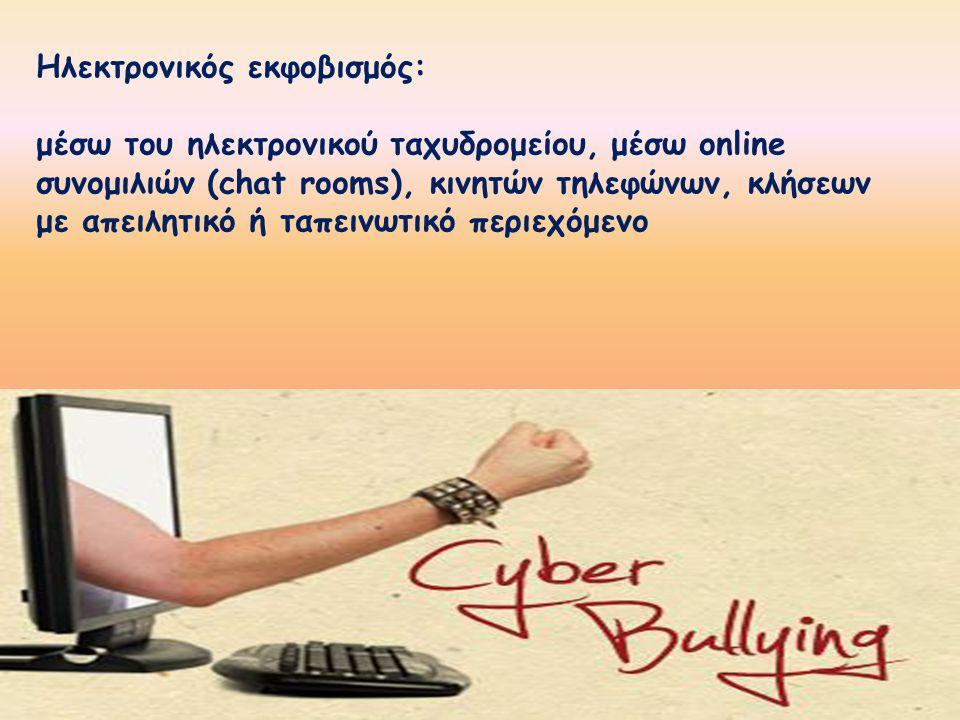 Ηλεκτρονικός εκφοβισμός: