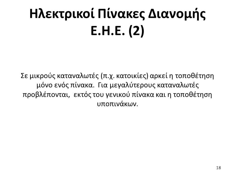 Ηλεκτρικοί Πίνακες Διανομής Ε.Η.Ε. (2)
