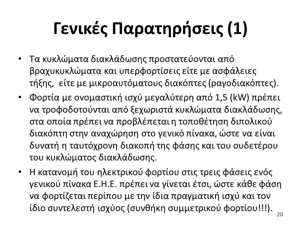 Γενικές Παρατηρήσεις (1)