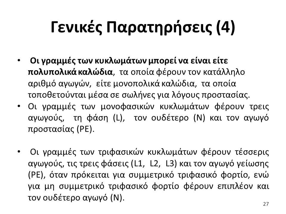 Γενικές Παρατηρήσεις (4)