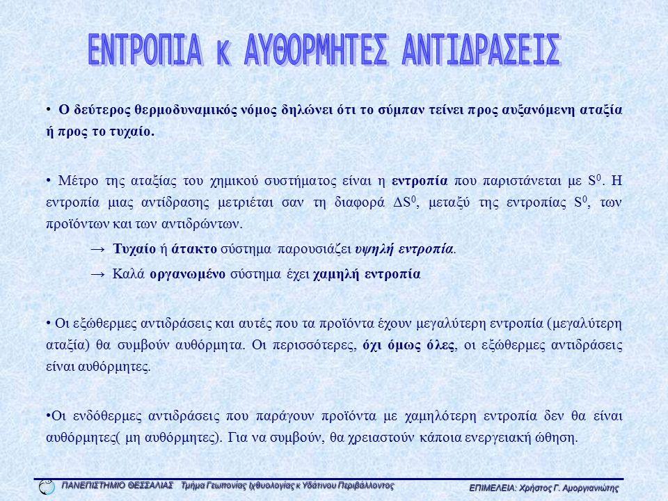 ΕΝΤΡΟΠΙΑ κ ΑΥΘΟΡΜΗΤΕΣ ΑΝΤΙΔΡΑΣΕΙΣ