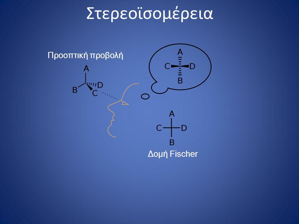 Στερεοϊσομέρεια Προοπτική προβολή Δομή Fischer