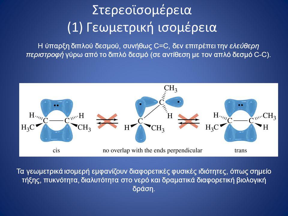 Στερεοϊσομέρεια (1) Γεωμετρική ισομέρεια