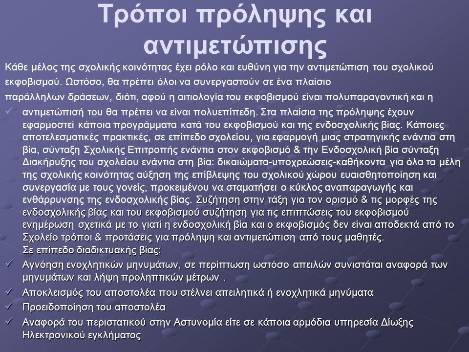 Τρόποι πρόληψης και αντιμετώπισης