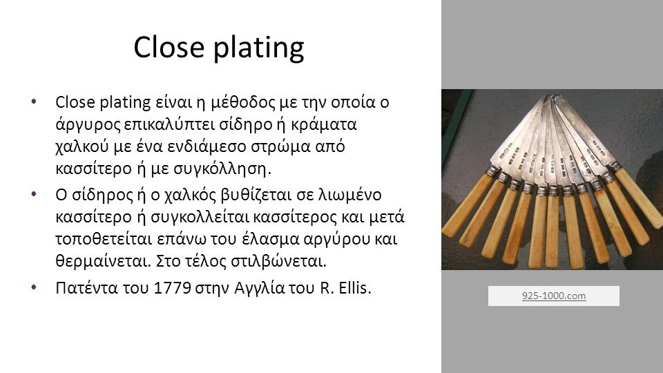 Close plating