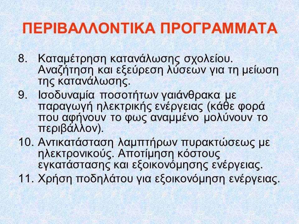 ΠΕΡΙΒΑΛΛΟΝΤΙΚΑ ΠΡΟΓΡΑΜΜΑΤΑ