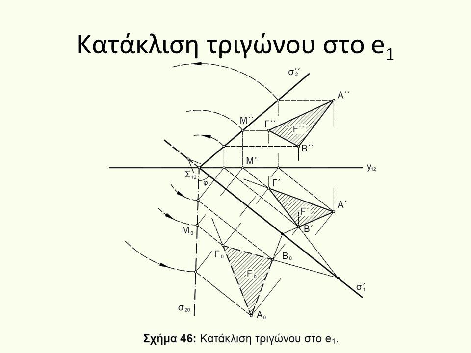 Κατάκλιση τριγώνου στο e1