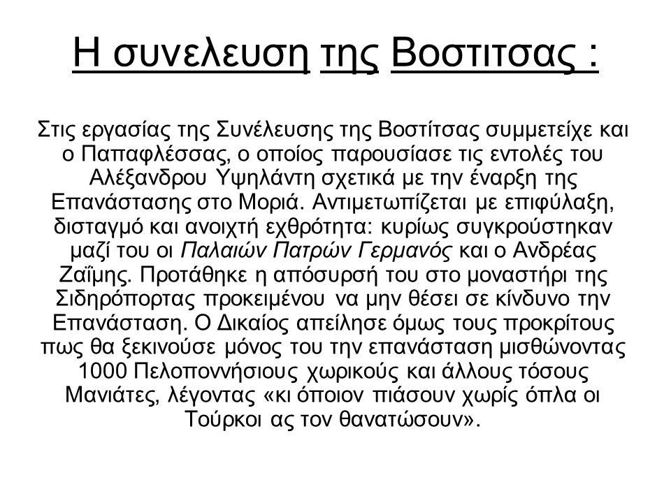 Η συνελευση της Βοστιτσας :