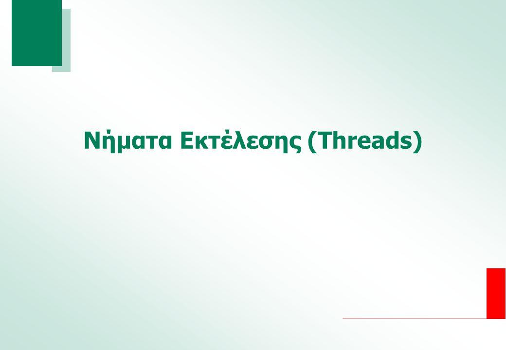 Νήματα Εκτέλεσης (Threads)