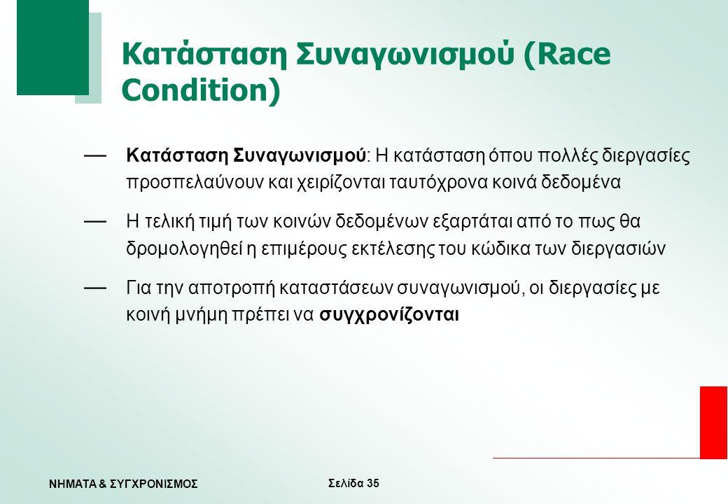 Κατάσταση Συναγωνισμού (Race Condition)