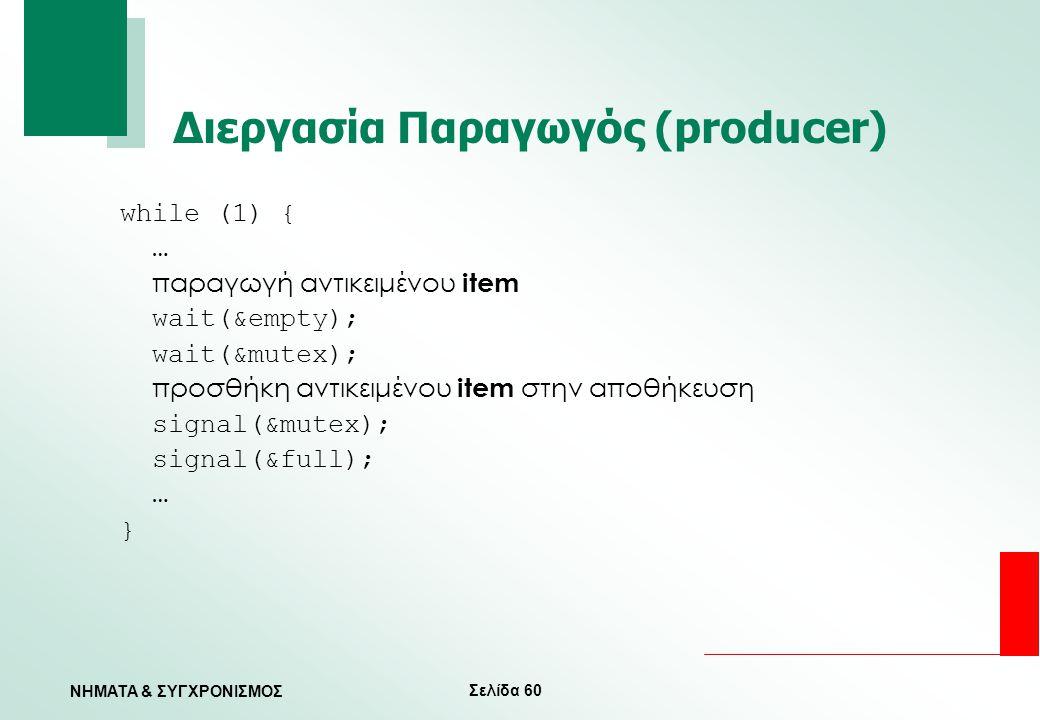 Διεργασία Παραγωγός (producer)