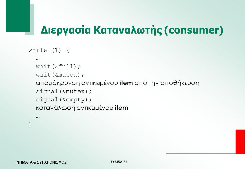 Διεργασία Καταναλωτής (consumer)