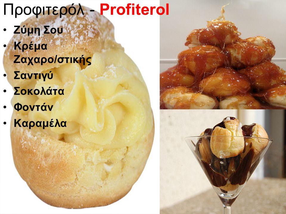 Προφιτερόλ - Profiterol