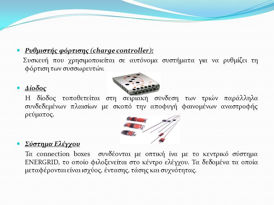 Ρυθμιστής φόρτισης (charge controller):