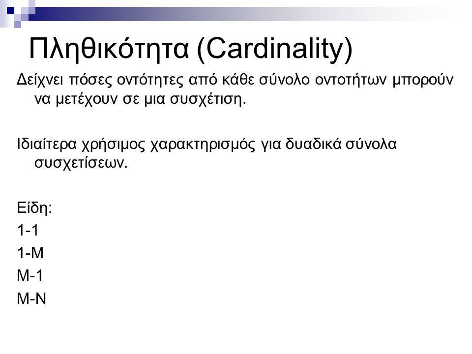 Πληθικότητα (Cardinality)