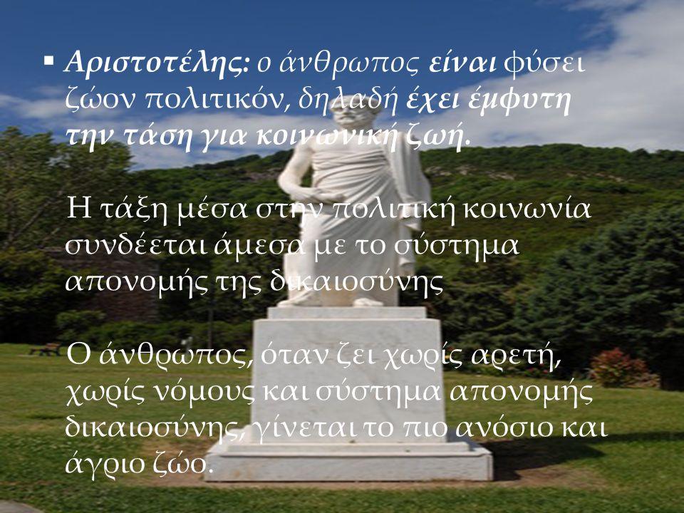 Αριστοτέλης: ο άνθρωπος είναι φύσει