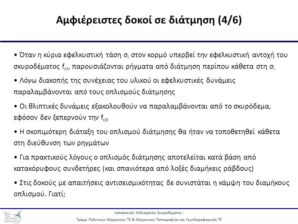 Αμφιέρειστες δοκοί σε διάτμηση (4/6)