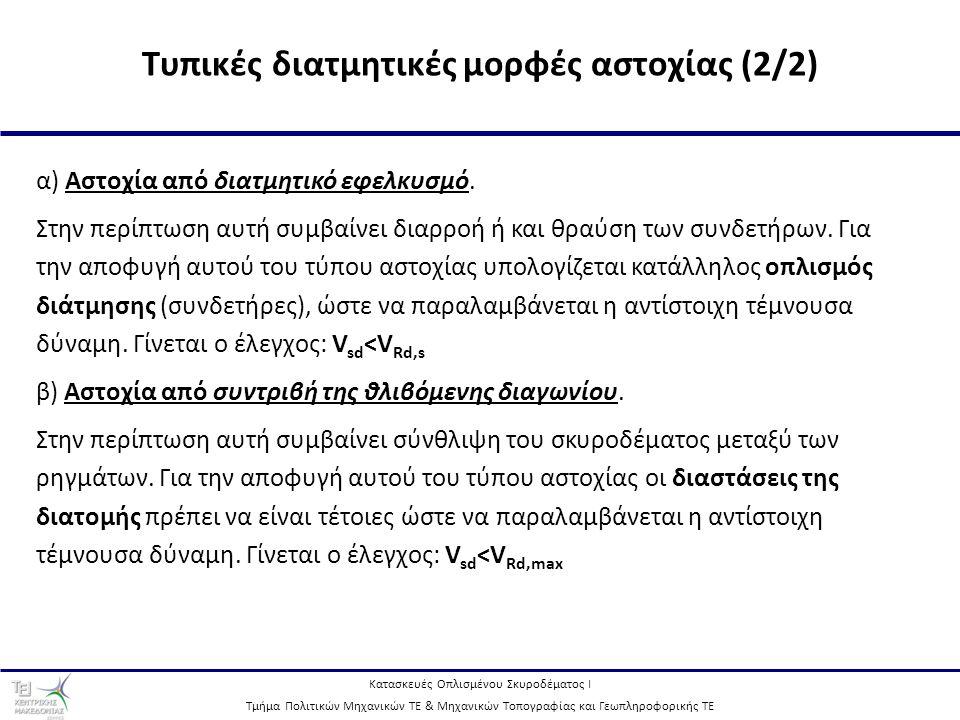 Τυπικές διατμητικές μορφές αστοχίας (2/2)