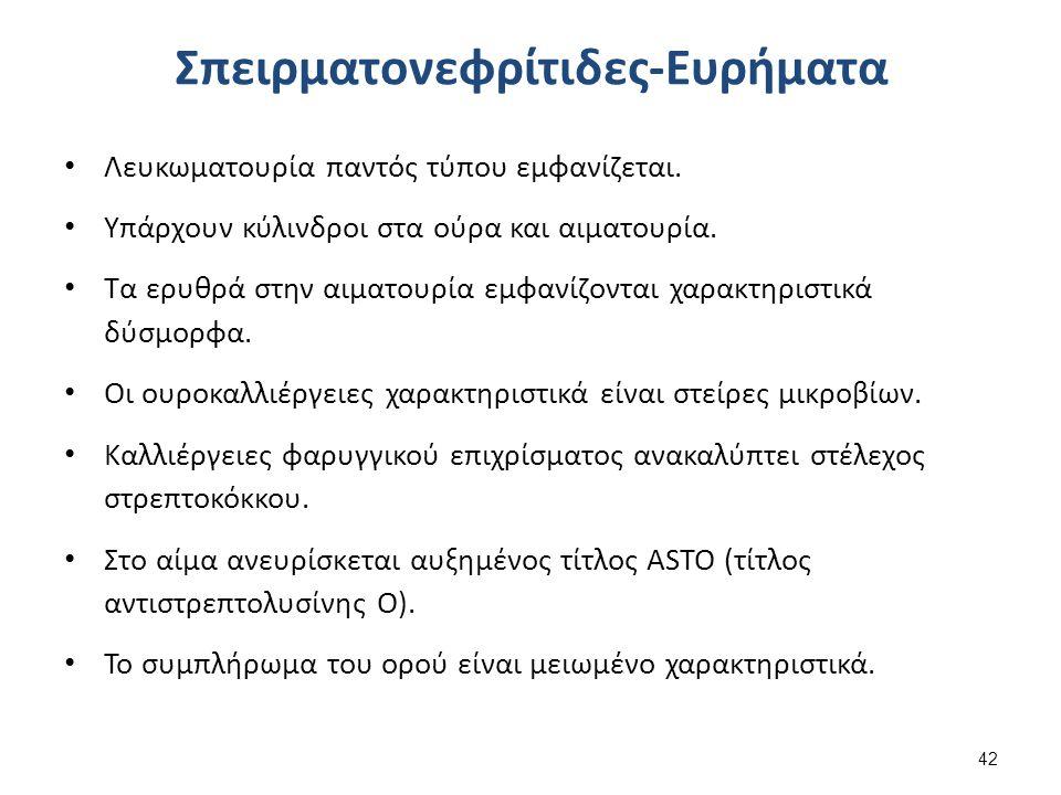 Σπειραματονεφρίτιδες- Θεραπεία