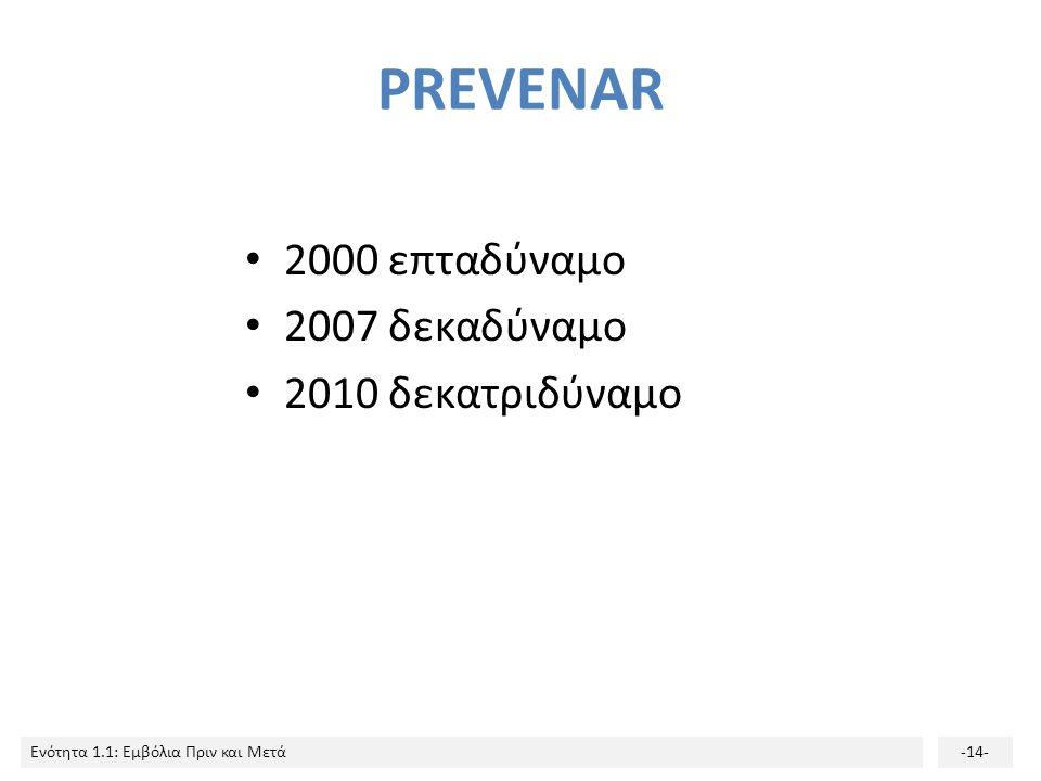 PREVENAR 2000 επταδύναμο 2007 δεκαδύναμο 2010 δεκατριδύναμο