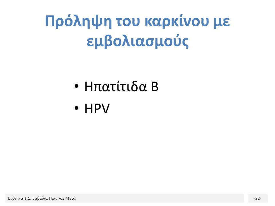 Πρόληψη του καρκίνου με εμβολιασμούς