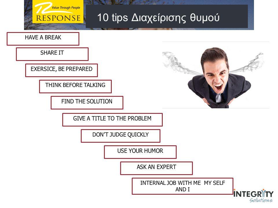 10 tips Διαχείρισης θυμού