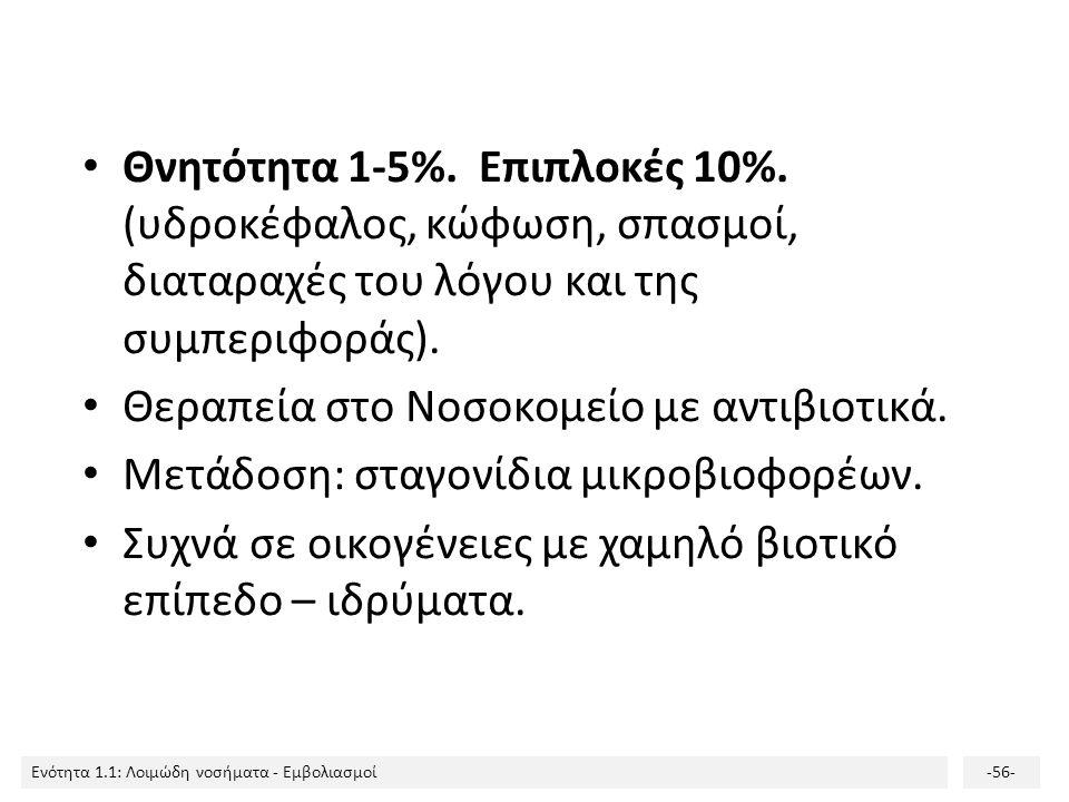 Θνητότητα 1-5%. Επιπλοκές 10%