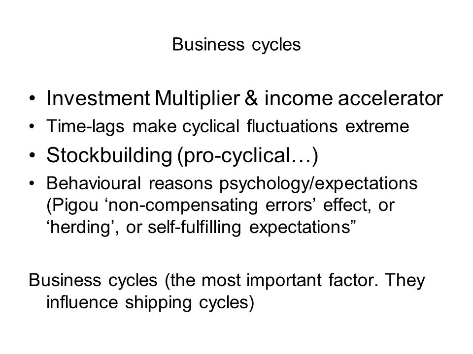 Investment Multiplier & income accelerator