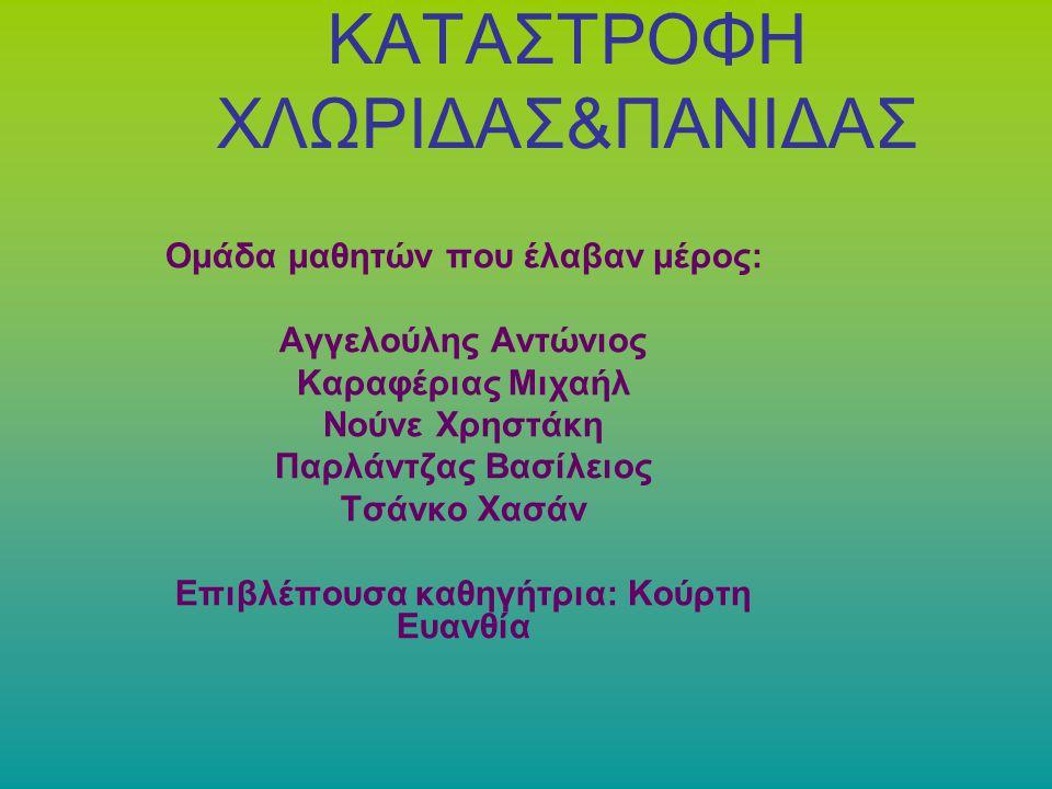 ΚΑΤΑΣΤΡΟΦΗ ΧΛΩΡΙΔΑΣ&ΠΑΝΙΔΑΣ