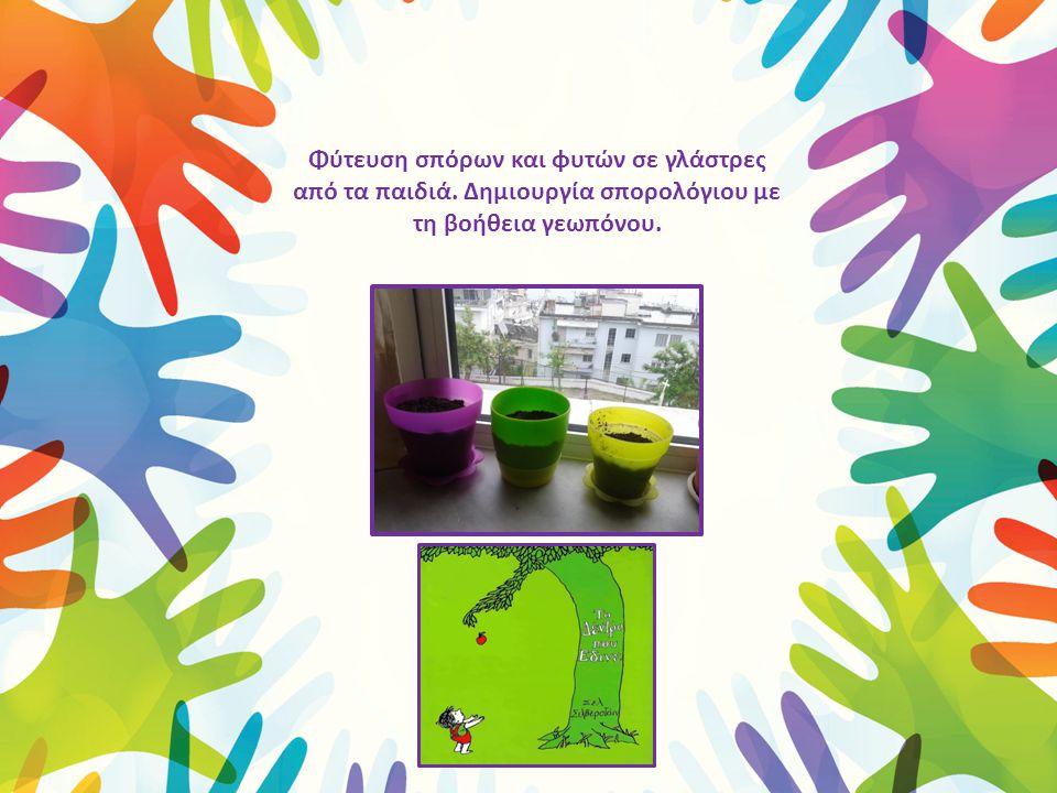 Φύτευση σπόρων και φυτών σε γλάστρες από τα παιδιά