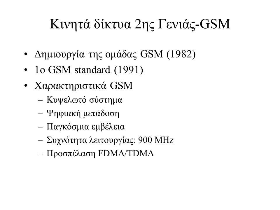 Κινητά δίκτυα 2ης Γενιάς-GSM