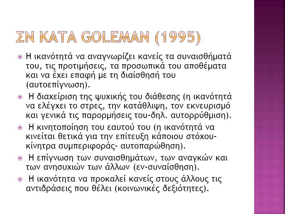 ΣΝ κατα Goleman (1995)