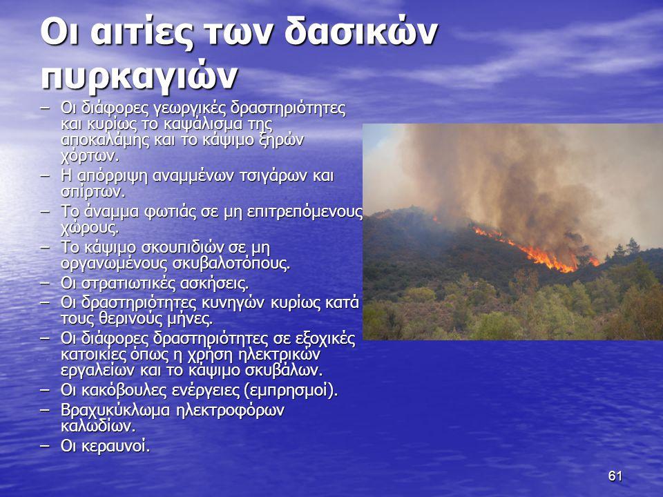 Οι αιτίες των δασικών πυρκαγιών
