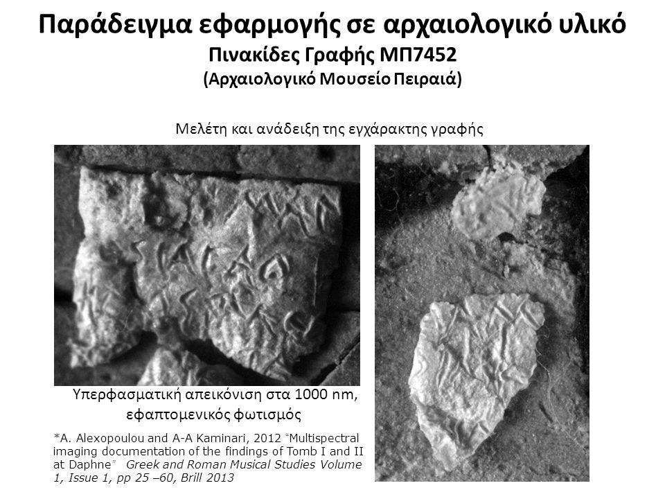 Παράδειγμα εφαρμογής σε αρχαιολογικό υλικό Πάπυρος ΜΠ8520 (Αρχαιολογικό Μουσείο Πειραιά)