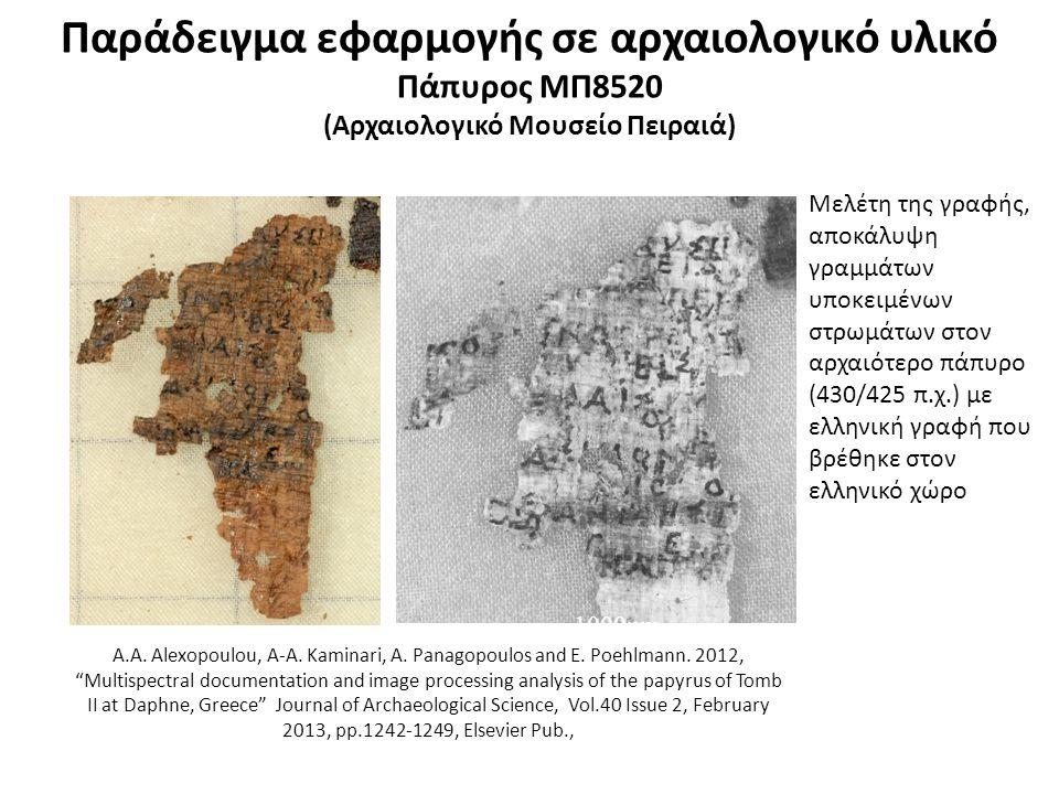 Παράδειγμα εφαρμογής σε αρχαιολογικό υλικό Άρπα και Αυλός (Αρχαιολογικό Μουσείο Πειραιά)