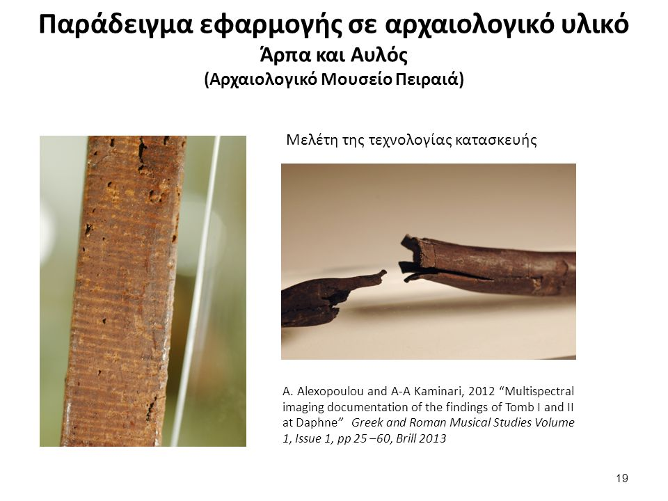 Παράδειγμα εφαρμογής σε αρχαιολογικό υλικό Λήκυθος ΜΠ4724 (Αρχαιολογικό Μουσείο Πειραιά)