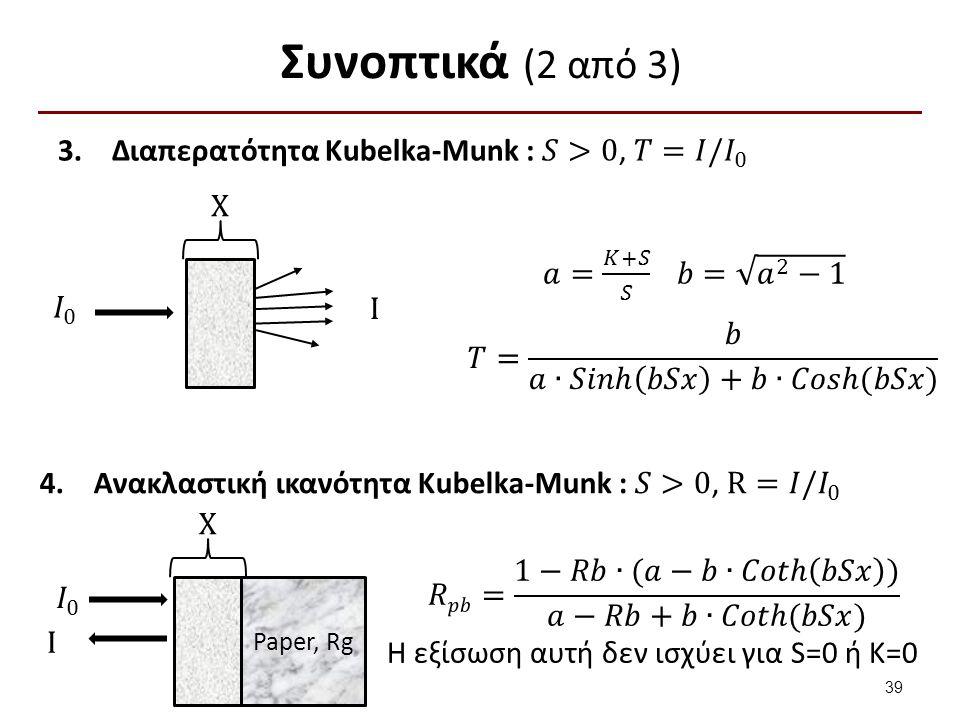 Συνοπτικά (3 από 3) 𝐾 𝑆 = 1−𝑅 2 2𝑅 και 𝑅=𝑎−𝑏