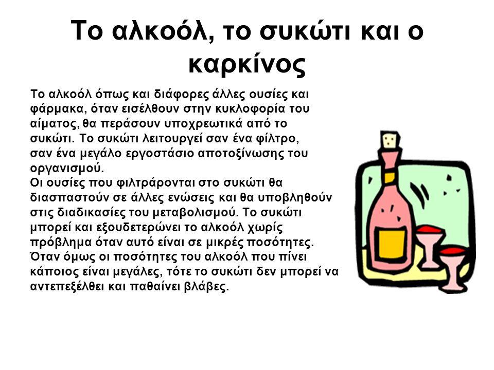 Το αλκοόλ, το συκώτι και ο καρκίνος