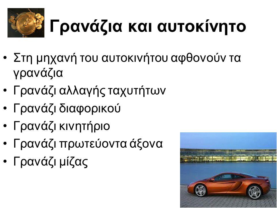 Γρανάζια και αυτοκίνητο