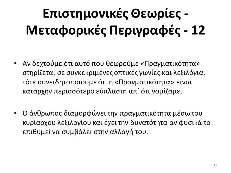Επιστημονικές Θεωρίες - Μεταφορικές Περιγραφές - 12