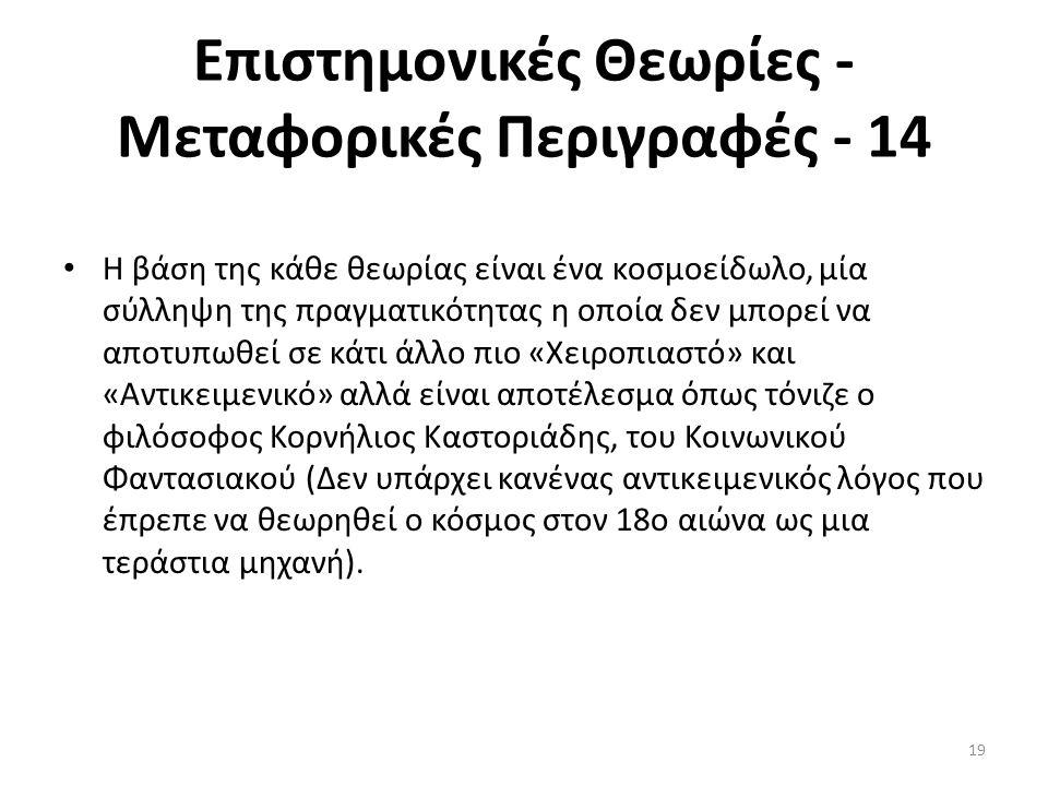 Επιστημονικές Θεωρίες - Μεταφορικές Περιγραφές - 14