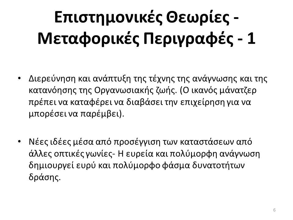Επιστημονικές Θεωρίες - Μεταφορικές Περιγραφές - 1