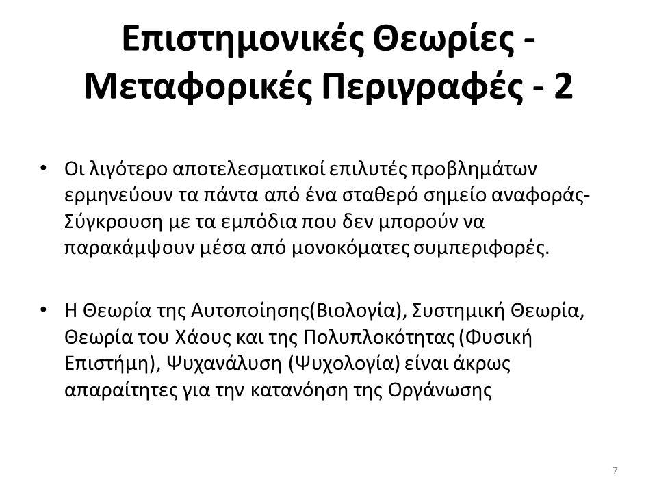 Επιστημονικές Θεωρίες - Μεταφορικές Περιγραφές - 2